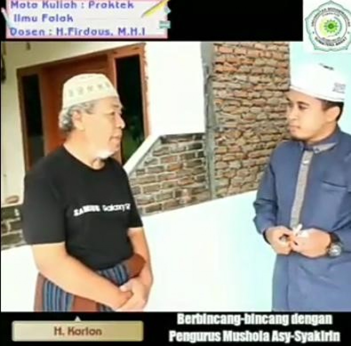 Apresiasi yang tinggi kepada mahasiswa Fakultas Agama Islam (FAI) Prodi Hukum Keluarga Universitas Muhammadiyah Sumatera Barat (UMSB) sukses menentukan Arah Kiblat dengan momen matahari atas Kakbah