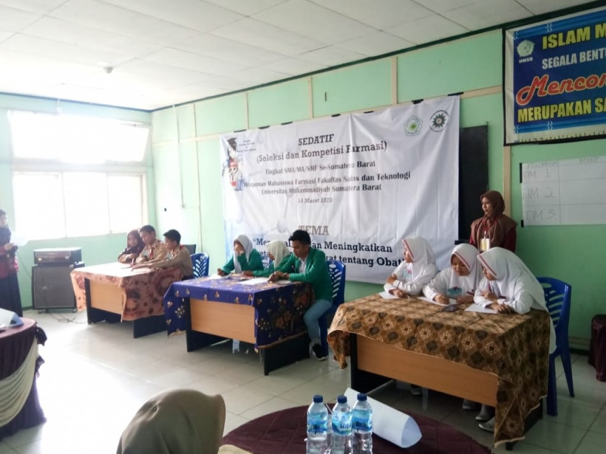 Himpunan Mahasiswa program studi Farmasi Fakultas Sains dan Teknologi Universitas Muhammadiyah Sumatera Barat (UMSB) adakan